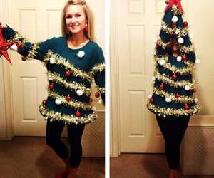 christmas, tree, and sweater image