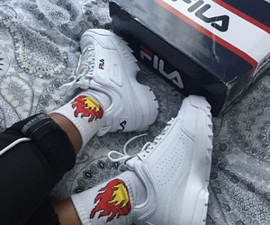 Fila, sneakers, and white image