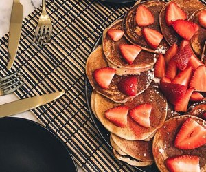food, dessert, and pancakes image