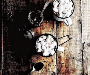 chocolate, marshmallow, and coffee image