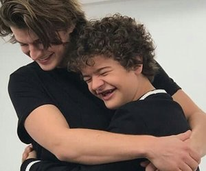 stranger things, joe keery, and gaten matarazzo image
