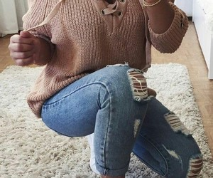 jeans, shoes, and pulover image