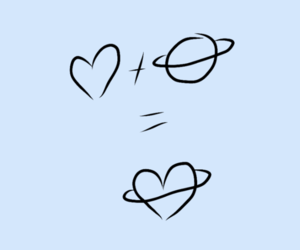 blue, draw, and heart image