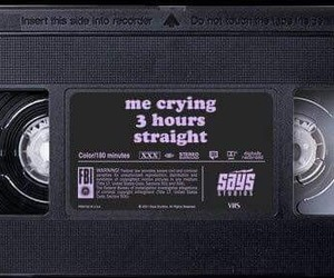 aesthetic, sad, and tapes image