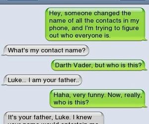darth vader, funny, and LUke image