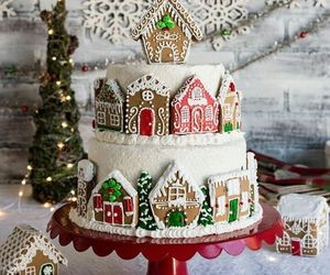 christmas, cake, and holiday image