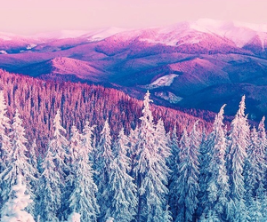 wallpaper, winter, and mountains image