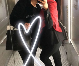 black, clothes, and friend image