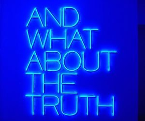 blue, truth, and aesthetic image