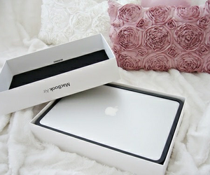 apple, beautiful, and laptop image