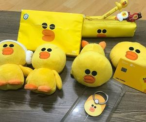 duck, kawaii, and pencil case image