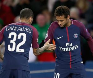 neymar, dani alves, and psg image