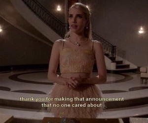 scream queens, emma roberts, and meme image