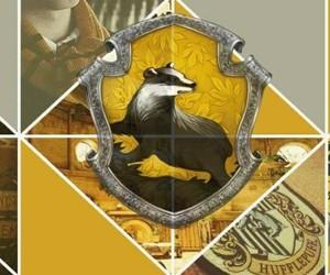 header, hogwarts, and hufflepuff image