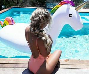 girl, summer, and unicorn image