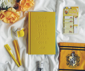 yellow, hufflepuff, and flowers image