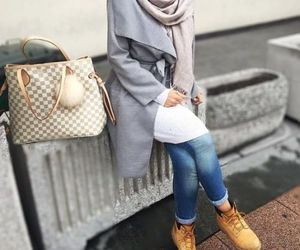 bag, boots, and fall image