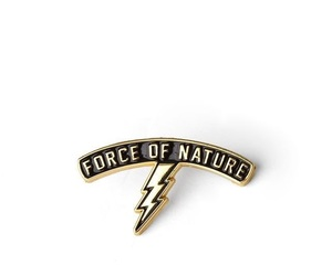 force of nature, lightning, and pins image