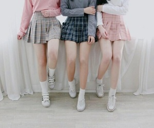 skirt, pink, and pastel image