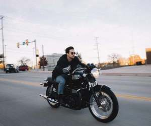 driving, motorcycle, and people image