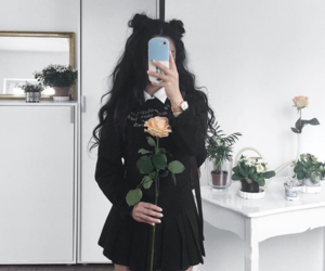 girl, black, and aesthetic image