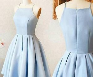 dress, homecoming dress blue, and homecoming dress short image