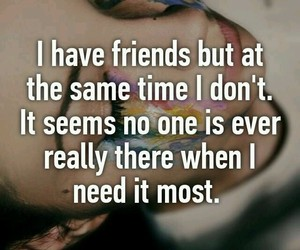 lonely and friends image