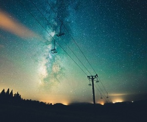 stars, sky, and nature image