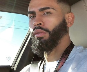 beard, fine, and puerto rican image