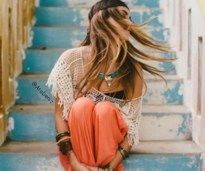style, boho, and hair image
