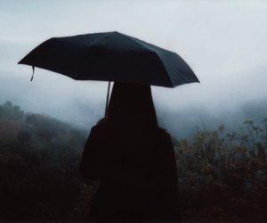 umbrella, dark, and grunge image