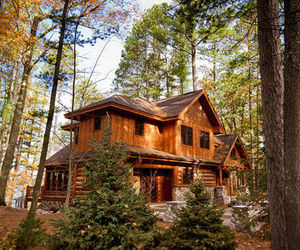 cabin, country home, and homes image