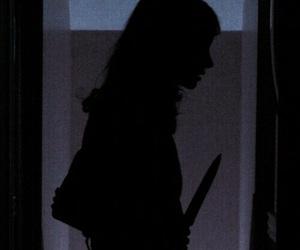 girl, knife, and grunge image