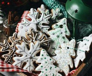 christmas, Cookies, and snow image