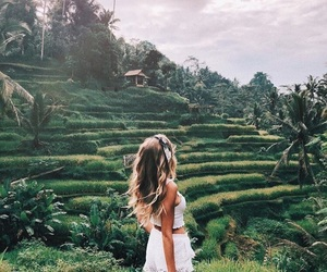 girl, travel, and plants image