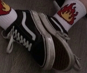 vans, aesthetic, and fire image