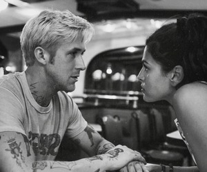 ryan gosling, eva mendes, and movie image
