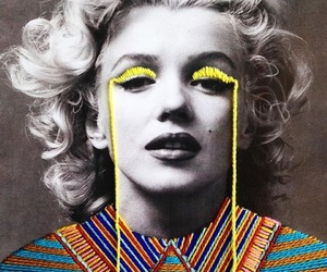 cool, illustration, and marilyn image