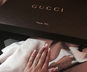gucci, nails, and luxury image