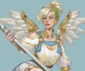 game, overwatch, and art image