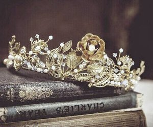 crown, gold, and book image