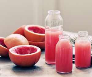 grapefruit, pink, and food image