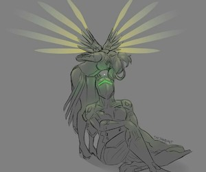 fan art, lights, and mercy image