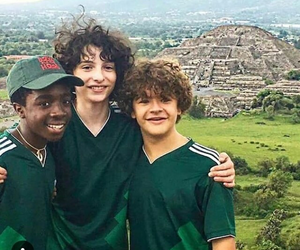 finn wolfhard, stranger things, and caleb mclaughlin image