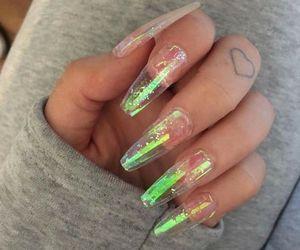 nails, tattoo, and acrylic image