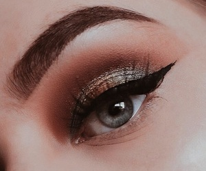 eye, eye makeup, and eyes image