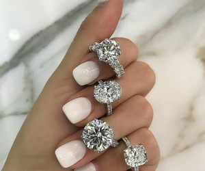 beauty, nails, and rings image