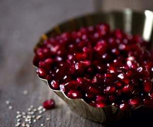 beauty, food, and pomegranate image
