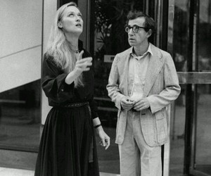 meryl streep, black and white, and woody allen image
