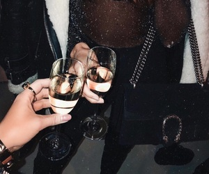 fashion, champagne, and drink image